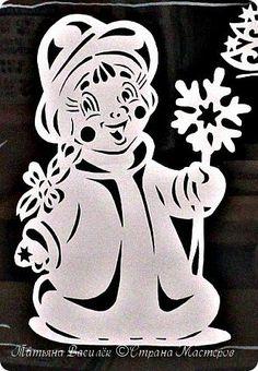 Так мы оформили в нашей группе окошечки к Новому году:)  Первое окно. фото 12