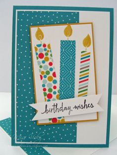 Sunshine Cards & Creations Birthday Wishes, Stamp Set - Build a Birthday, DSP - Cherry on Top, Washi Tape - Cherry on Top, Stampin! If you enjoy arts and crafts a person will really like this info! Bday Cards, Kids Birthday Cards, Handmade Birthday Cards, Greeting Cards Handmade, Birthday Wishes, Diy Birthday, Card Birthday, Birthday Images, Birthday Quotes