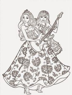 Barbie Et Son Amie Avec Le Gros Livre Magique Un Coloriage Inedit De Mariposa Au Royaume Des Fees