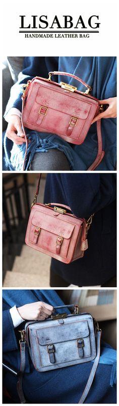 Handmade Waxed Cowhide Leather Messenger Bag Shoulder Bag Women s Fashion  Handbag CM01 Purses And Handbags ef9e549a64dd5