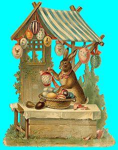Lapin de Pâques tr # Easter # Eggs # Bunny Rabbit