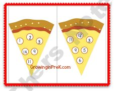 Pizza Number Bingo product from Growing-in-Pre-K on TeachersNotebook.com
