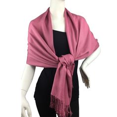 Pink Pashmina Style Scarf from Lil+Lo Collection The designers at Lil+Lo picked the colors for the winter 2015 collection straight out of the hottest colors they could get their hands on!  This is a full size pashmina style scarf - a true pashmina is wool and silk mix so we want to be very specific about our products. This is 100% acrylic - why? Because it lays so well, will not wrinkle, remains affordable and will keep you warm!  Colors available: Blue, Pink, Gray, Black. These come…