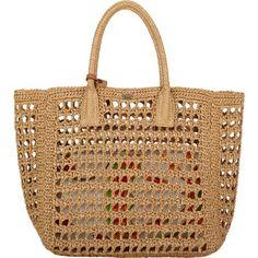 Raffia tote - crochet bag - Dolce & Gabbana #madeinitaly: