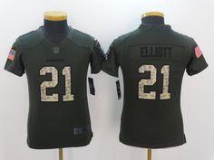 712f2f110e2d9 Youth Dallas Cowboys 21 Elliott Green Salute TO Service Jerseyscheap nfl  jerseys,cheap mlb jerseys from cheapnflshop.
