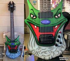Rocking Collection Of Custom Guitars And Gear