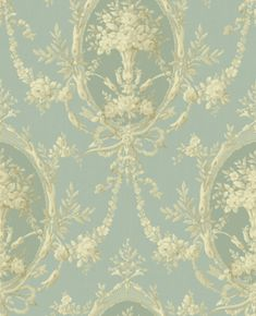 blue toile de jouy / love this! Fabric Wallpaper, Green Wallpaper, Zoffany Wallpaper, Chinoiserie Wallpaper, Beautiful Wallpaper, Kids Wallpaper, Duck Egg Blue, French Decor, Blue Accents
