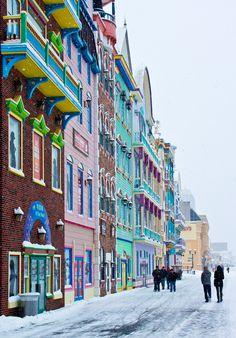Boardwalk Snow at Atlantic City NJ