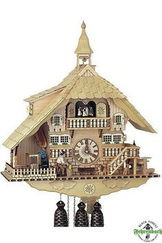 Black Forest Cuckoo Clocks   Home / Chalet Cuckoo Clock Black Forest House Natural
