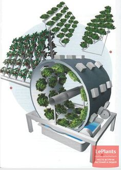 The Omega Garden Volksgarden A complete rotating hydroponics