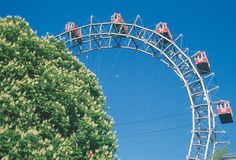 Giant ferris wheel Prater park, Vienna