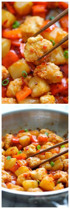 Panda Express Sweet Fire Chicken Copycat - An easy homemade version that tastes so much better (and healthier) than take-out! Check out more recipes like this! Visit yumpinrecipes.com/