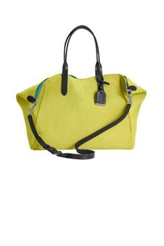 Cole Haan's lime green Crosby shopper #totes