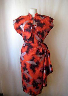1950s hawaiian dress set by SweetMoonlightShop