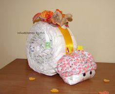 Windeltorten - Windelschnecke 'Bunny', süsse Windeltorte - ein Designerstück von Windeltorten-by-Evi bei DaWanda