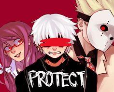 Rize,Kaneki e Jason - Tokyo Ghoul