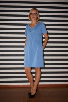 38 Sukienka Błękitna A - HeWoj - Sukienki