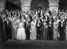 Royals at the Albanian wedding of King Zog and Queen Geraldine