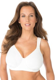 Petal Boost® Underwire Bra by Comfort Choice®   Plus Size Full Coverage Bras   Woman Within