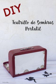 DIY: Teatro de Sombras. Una idea muy sencilla para crear un teatro de sombras paso a paso en el interior de una maleta.