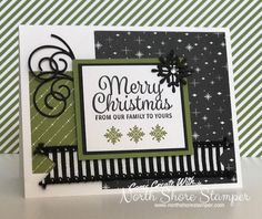 Stampin' Up! Snowflake Sentiments handmade Christmas card - Thailand Achievers' Blog Hop