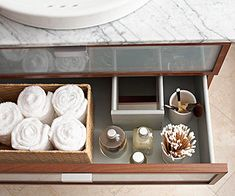 Tons of Storage Tips for Small Items!  Loving all the cool containers.