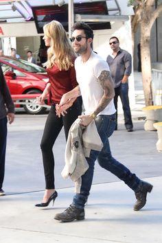 Hot couple alert! Adam Levine and Anne V