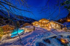 World class luxury ski holiday Chalet Mont Tremblant in Meribel available to book through Ultimate Luxury Chalets. Fully Catered, Swimming Pool, Hot Tub, Cinema.