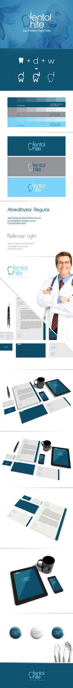 Dental White                                                       … Dental Clinic Logo, Dentist Logo, Teeth Logo, Dental Design, Brand Identity, Corporate Identity, Logo Design, Branding Design, Dentistry