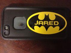 Small Personalized Batman Sticker Decal by PersonalizedJewellz, $4.00