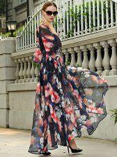 European Style Figure Flattering Chiffon Dress