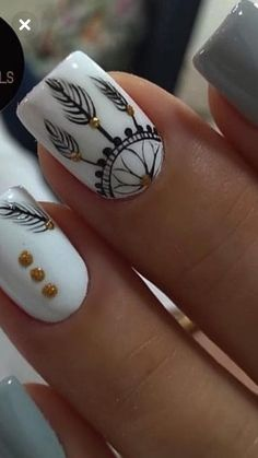 So good - Song Tutorial and Ideas Dream Nails, Love Nails, Pretty Nails, Fancy Nails, Diy Nails, Nail Manicure, Gel Nail, Nail Polish, Tribal Nails