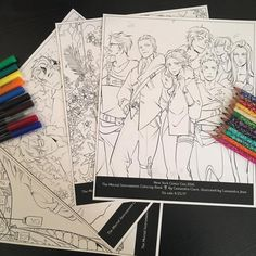 "cassandraclare: "" Break out your color pencils THE MORTAL INSTRUMENTS COLORING BOOK with art by Cassandra Jean is coming 4/25/17 Stop by @SimonTeen booth #2128 #NYCC for exclusive pages! "" Get your color-groove on!"