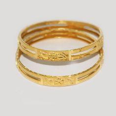Green Enamel Gold Bangle From N Gopaldas Diamond Jewellers