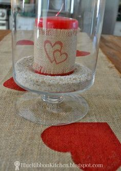 a valentine table runner that s all heart, crafts, seasonal holiday decor, valentines day ideas