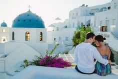 Here is why Santorini, Greece is one of the best honeymoon locations. See the stunning photos of this couple and their travel experience in Mykonos, Paros and Santorini.
