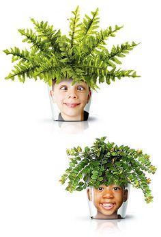 Interior Design | Interior Decorating Ideas | Interior Design Photos: Amazing flower pots Design by Good Studio : The Facepot