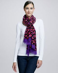 disco animal-print scarf by kate spade new york at Neiman Marcus.
