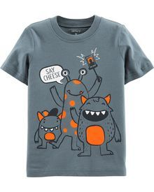 Monster Jersey Tee Recommended For You Baby Shirts, Boys T Shirts, Baby Boy Tops, Boys Pajamas, Boy Fashion, Fashion Clothes, Fashion Design, Kids Wear, Toddler Boys