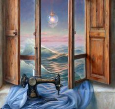 Oh, how I love Surrealism! (Sew the Ocean)