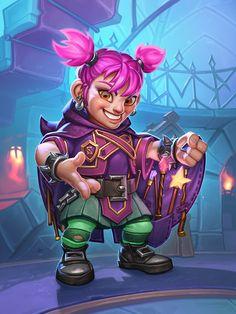 ArtStation - Hearthstone: Scholomance Academy - Wand Thief, Azora Studio Character Concept, Character Art, Character Design, Warcraft Art, World Of Warcraft, Dnd Characters, Fantasy Characters, Elf Drawings, Girl Posters