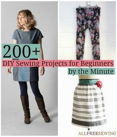 200+ DIY Sewing Projects for Beginners by the Minute   You can make a sewing pattern in 5 minutes!