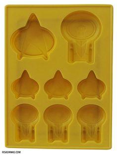 Cubitera de Star Trek que al ser de silicona podrás usar también como molde de pastelería.