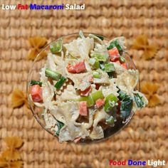 This is the best macaroni salad, I've had! Low Fat Macaroni Salad - Old fashioned, Low Calorie, Healthy, perfect for a picnic
