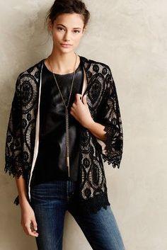 Laced Kimono Cardigan #Anthropologie