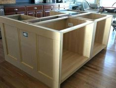 build a kitchen island using stock cabinets professional kitchen decoration impressive how to build a kitchen island with cabinets an upscale build kitchen island stock cabinets Kitchen Island Using Stock Cabinets, How To Install Kitchen Island, Kitchen Island Ikea Hack, Kitchen Island Makeover, Cabinet Island, Ikea Kitchen Cabinets, Kitchen Islands, How To Design Kitchen Island, Base Cabinets