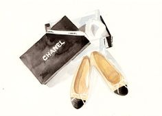 Chanel flat shoes  Original Watercolor illustration by MilkFoam, $35.00