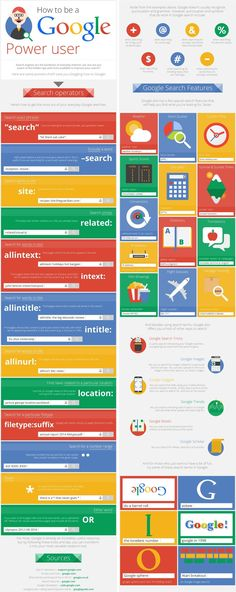 How to be a Google Power User (Google Apps for Education GAFE) Infographic