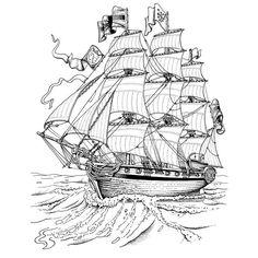 Dessin gratuit de pirate a imprimer et colorier