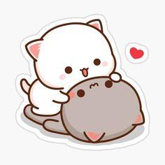 Mochi, Love Stickers, Cat Stickers, Cute Anime Cat, Chibi Cat, Cartoons Love, Cute Messages, Cute Memes, Aesthetic Stickers